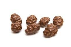Almonds in chocolate glaze Stock Image
