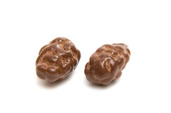 Almonds in chocolate glaze Royalty Free Stock Image