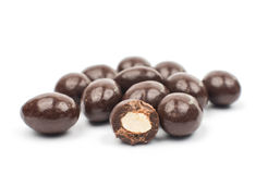 Almonds in chocolate Royalty Free Stock Photography