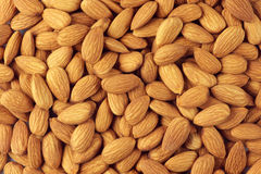 Almonds close-up Royalty Free Stock Image