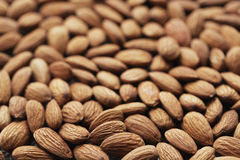 Almonds. Close up with bokeh Royalty Free Stock Image