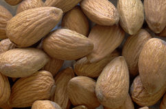 Almonds close up Stock Photos