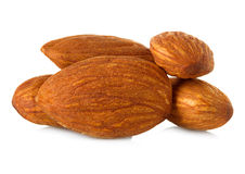 Almonds close-up Stock Images