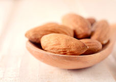Almonds close up Royalty Free Stock Images