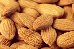 Almonds close-up Stock Image