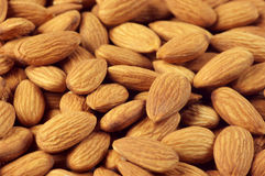 Almonds close-up Royalty Free Stock Photography