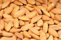 Almonds closeup Stock Images