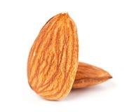 Almonds closeup Stock Images