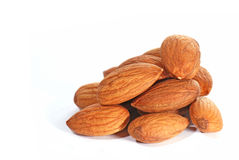 Almonds in closeup Royalty Free Stock Photos