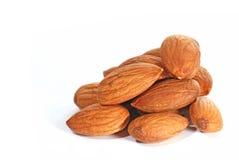 Almonds in closeup Royalty Free Stock Photos