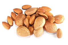 Almonds in closeup Royalty Free Stock Photo