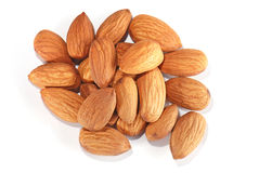 Almonds in closeup Royalty Free Stock Image
