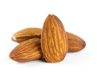 Almonds closeup Royalty Free Stock Photo