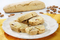 Almonds cookies Stock Image