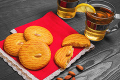 Almonds cookies food photo Royalty Free Stock Photo