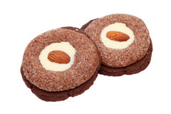 Almonds cookies Stock Images