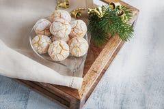 Almonds Cookies mac Stock Photo