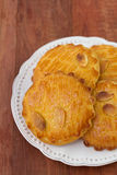 Almonds cookies on plate Royalty Free Stock Image