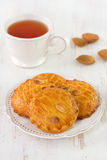 Almonds cookies with tea Stock Image