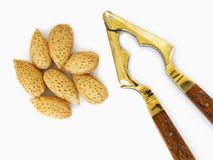 Almonds and cracker Royalty Free Stock Photography
