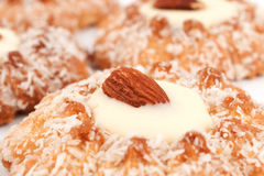 Almonds crumbly biscuits Royalty Free Stock Image