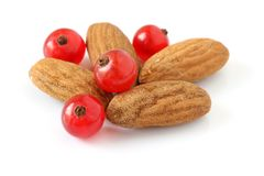 Almonds and currants Stock Photos