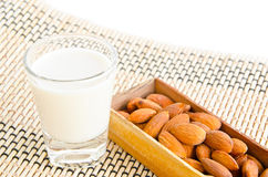 Almonds drink with almonds Royalty Free Stock Photos