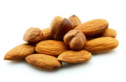 Almonds and filbert Royalty Free Stock Images