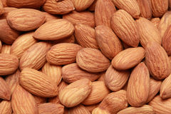 Almonds form a background Royalty Free Stock Image