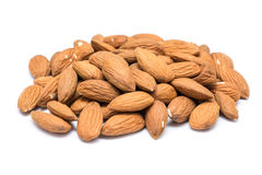 Almonds Fruits Pile Stock Images