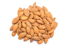 Almonds Fruits Pile Stock Photo