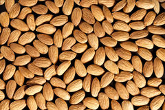 Almonds. Full background of nice perfect Royalty Free Stock Image