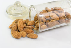 Almonds in a glass Stock Photography