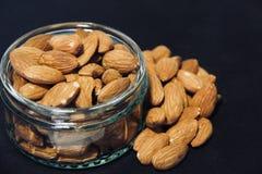 Almonds in Glass Ramekin royalty free stock images