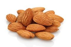 Almonds group Royalty Free Stock Images