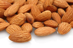 Almonds group Royalty Free Stock Image