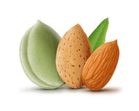 Almonds group Stock Photography