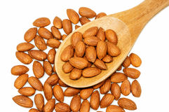 Almonds. Group of almonds on white background Stock Images