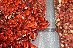 Almonds and hazelnuts Stock Photo