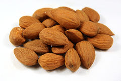 Almonds heap Royalty Free Stock Images
