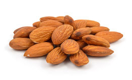 Almonds in heap Stock Photography