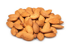 Almonds heap Stock Photo