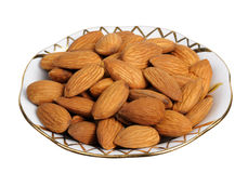 Almonds, isolated Royalty Free Stock Image