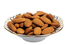Almonds, isolated Royalty Free Stock Photography