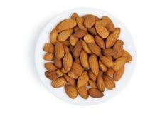 Almonds, isolated Stock Photos