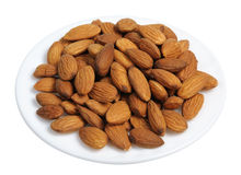 Almonds, isolated Royalty Free Stock Images