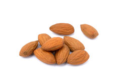 Almonds isolated Stock Image