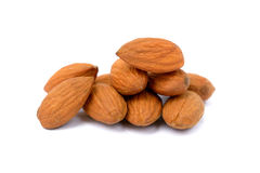 Almonds isolated Royalty Free Stock Photos