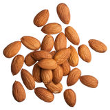 Almonds isolated on white stock image