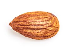 Almonds isolated on a white. Background with clipping path royalty free stock photo